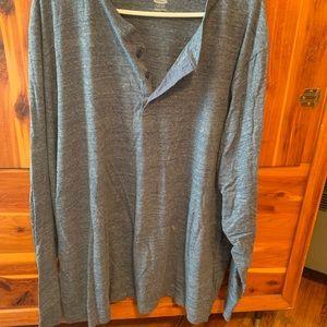 Blue gray long sleeve shirt